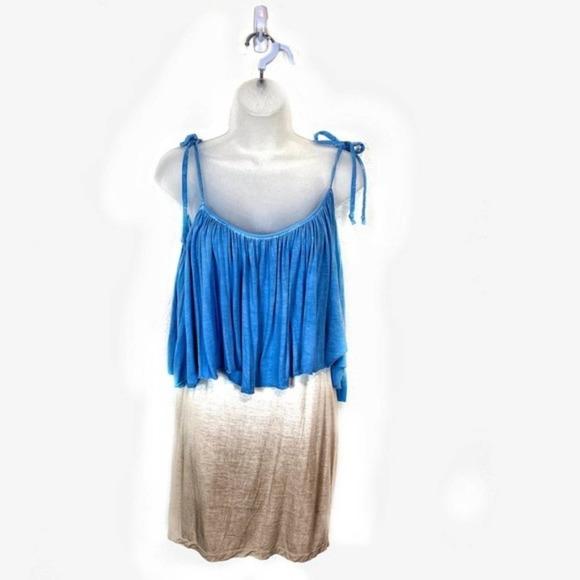Young Fabulous & Broke Boho Chic Ombré Mini Dress